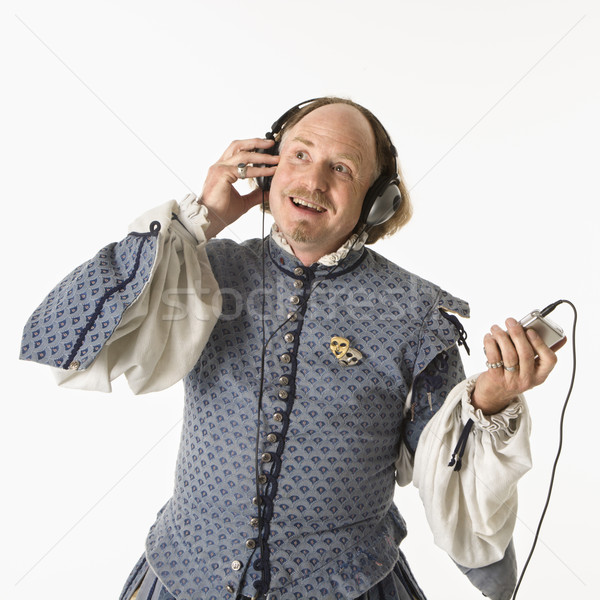 Shakespeare listening to mp3s. Stock photo © iofoto
