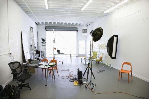 Fotózás stúdió belső fények különböző felszerlés Stock fotó © iofoto