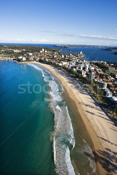 Eigendom Australië luchtfoto gebouwen oceaan Sydney Stockfoto © iofoto
