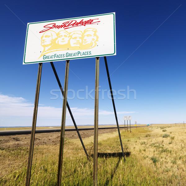 サウスダコタ州 道路標識 ラシュモア山 グラフィック 農村 フィールド ストックフォト © iofoto