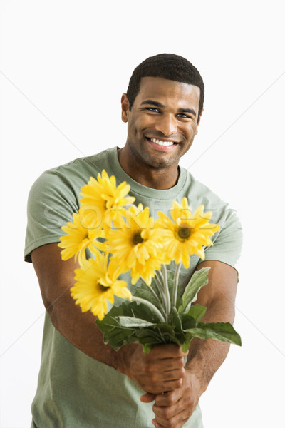 Man with bouquet. Stock photo © iofoto