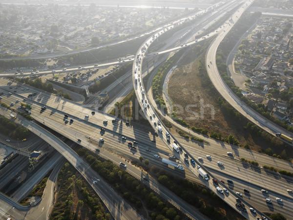 Snelweg luchtfoto complex Los Angeles Californië snelweg Stockfoto © iofoto