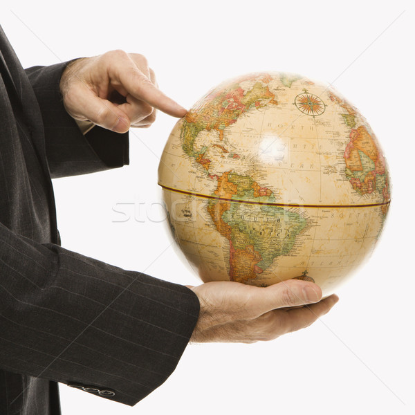 ストックフォト: ビジネスマン · 世界中 · 白人 · ポインティング