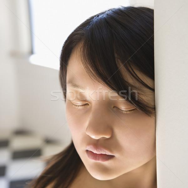 Mooie jonge asian vrouw Stockfoto © iofoto