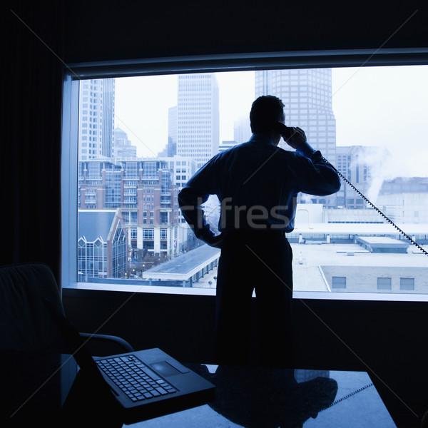 Affaires téléphone bureau Homme Photo stock © iofoto