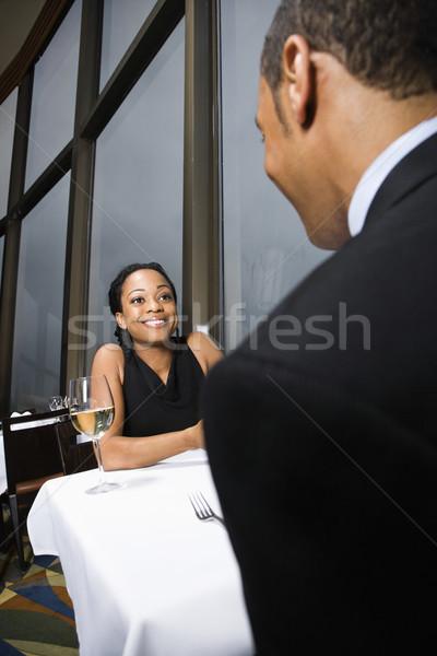 Couple talking. Stock photo © iofoto
