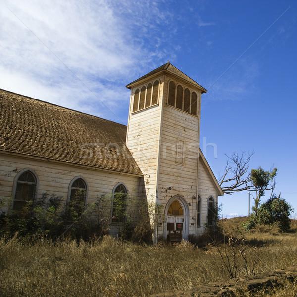 ストックフォト: 古い · 捨てられた · 教会 · 白 · 木製 · カラー