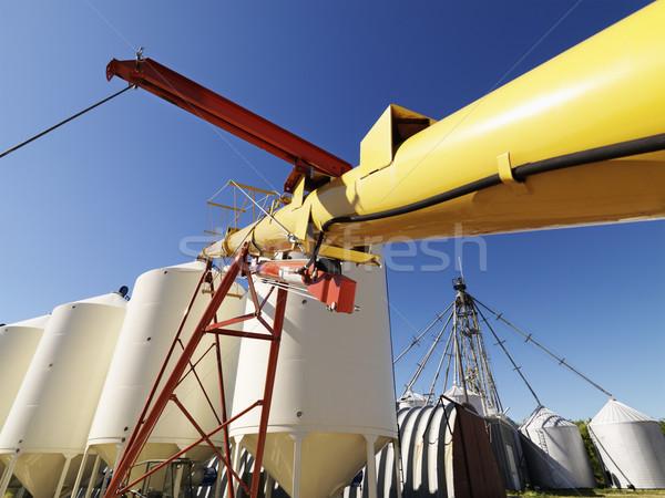 Grain silo storage. Stock photo © iofoto