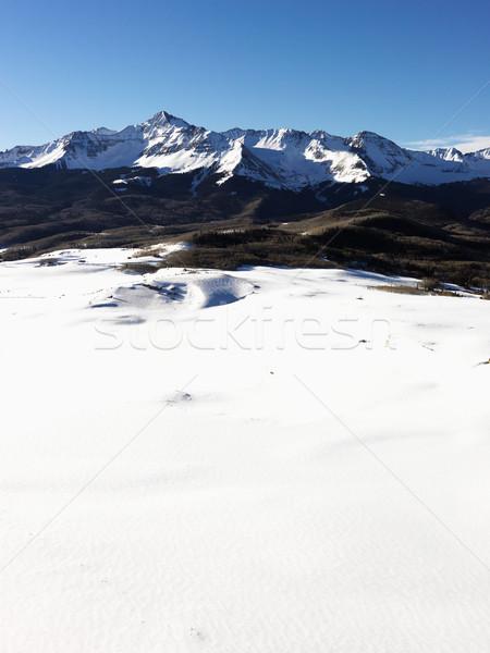 Snowy Colorado mountain landscape. Stock photo © iofoto