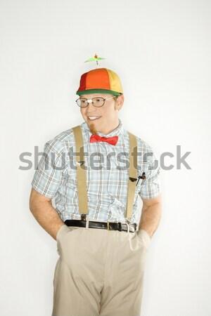 Man dressed like nerd. Stock photo © iofoto