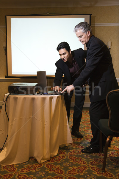 Businessmen giving presentation. Stock photo © iofoto