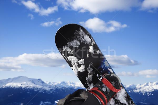 Snowboard and mountain. Stock photo © iofoto