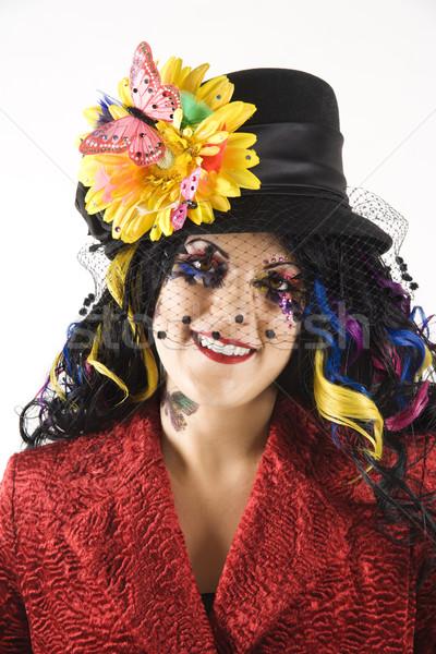 Woman expressing individuality. Stock photo © iofoto