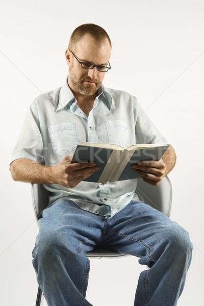 Man reading book. Stock photo © iofoto