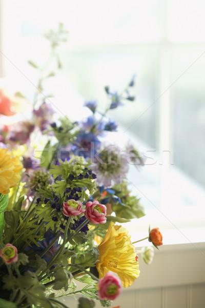 Virág egyezség ablak Stock fotó © iofoto
