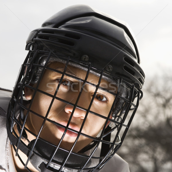 Ice hockey player boy. Stock photo © iofoto