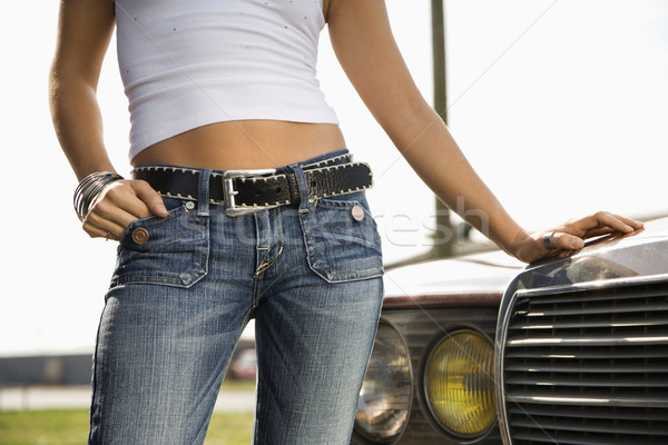 Attractive woman with car. Stock photo © iofoto