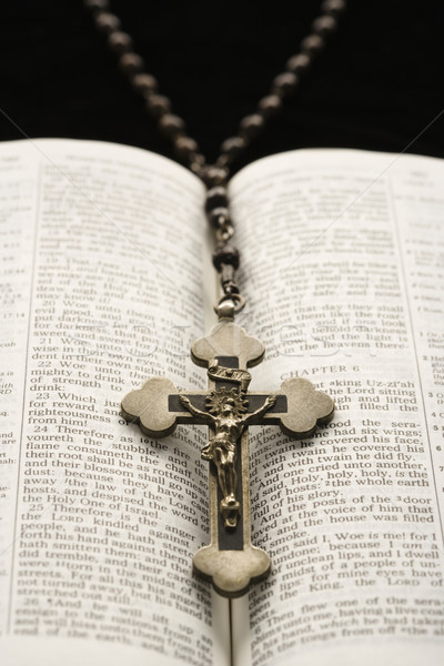 Rosary and Bible. Stock photo © iofoto