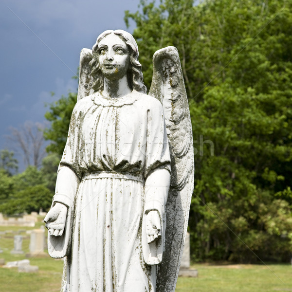 Guardian angel statue in graveyard. Stock photo © iofoto