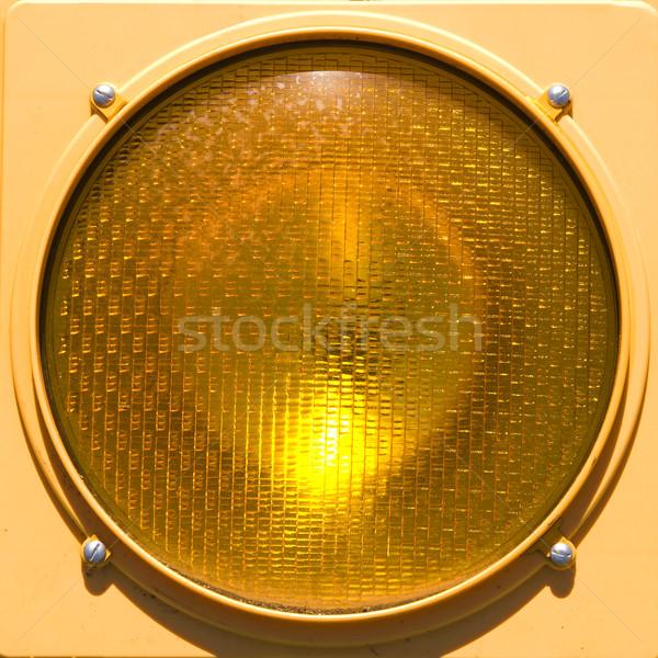 Closeup of stoplight. Stock photo © iofoto