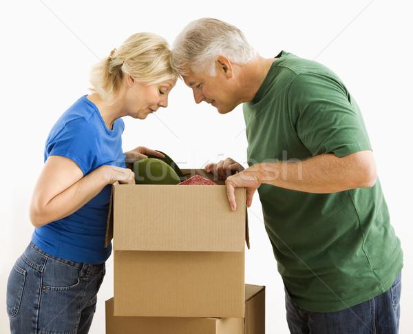 男 女性 見える ボックス カップル ストックフォト © iofoto