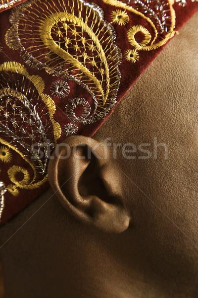 Ear and patterned headband. Stock photo © iofoto