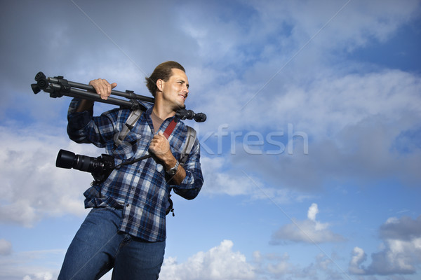 Man holding photography equipment. Stock photo © iofoto