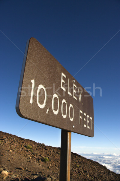 Elevation sign in Haleakala, Maui. Stock photo © iofoto