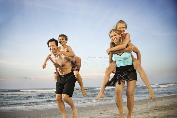 Family at the Beach Stock photo © iofoto