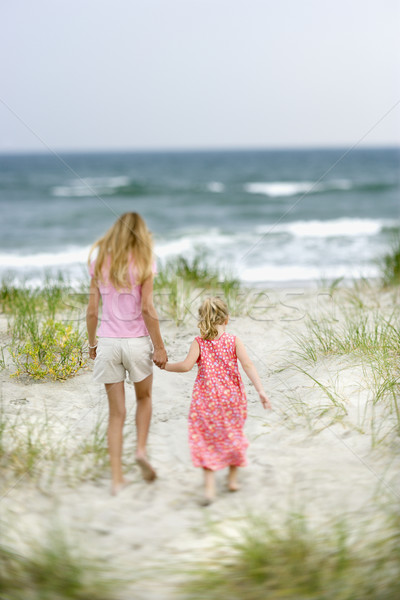 Sisters walking on beach. Stock photo © iofoto