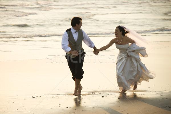 Сток-фото: невеста · жених · пляж · кавказский · взрослый · мужчины