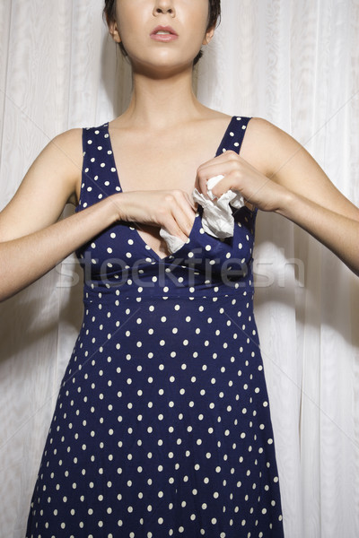 Mujer relleno sujetador bastante caucásico Foto stock © iofoto