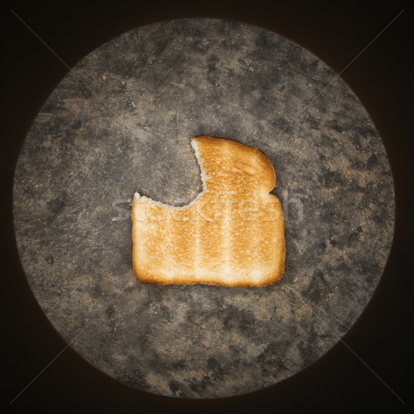 Toast mordre manquant tranche alimentaire pain Photo stock © iofoto