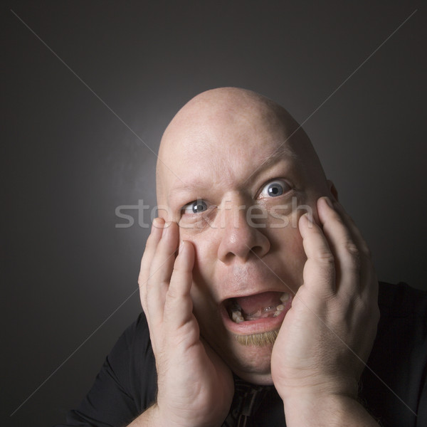Man looking shocked. Stock photo © iofoto