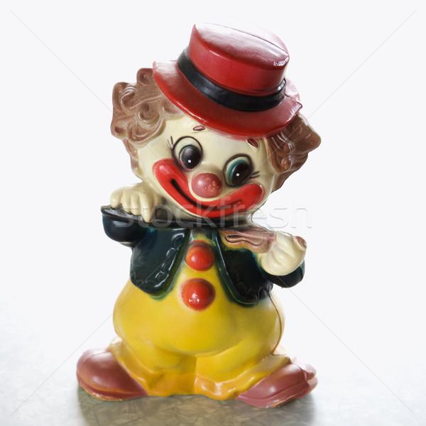 Vintage clown beeldje stilleven kleurrijk glimlachend Stockfoto © iofoto