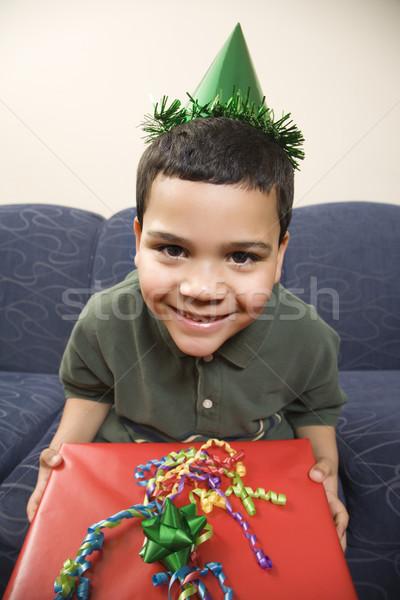 Jongen verjaardag aanwezig latino partij Stockfoto © iofoto