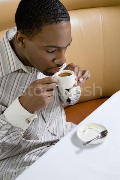 Man drinking coffee. Stock photo © iofoto