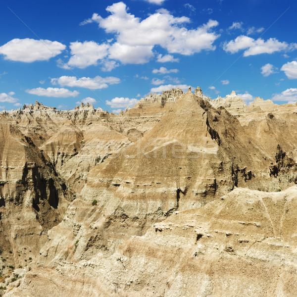Hegyek Dél-Dakota hegy terep park kék ég Stock fotó © iofoto