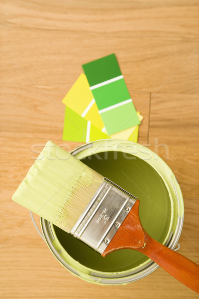 Paint with color swatches. Stock photo © iofoto