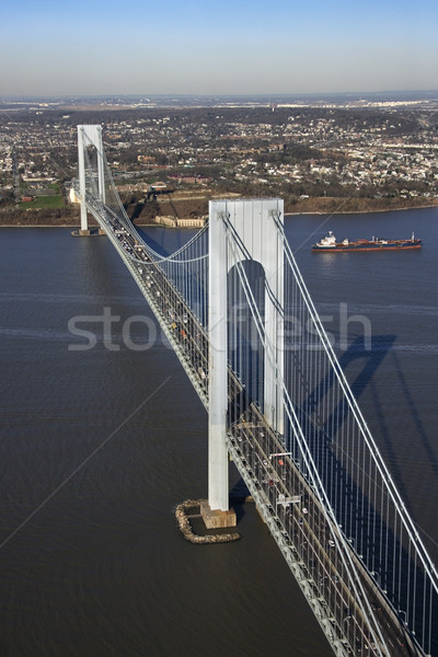 橋 ニューヨーク 船 水 眼 ストックフォト © iofoto