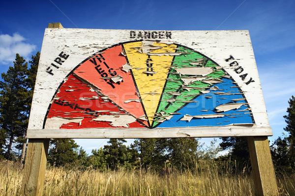 Fire Danger Sign Stock photo © iofoto