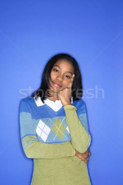 Girl pondering. Stock photo © iofoto