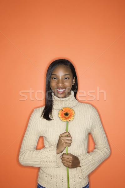Teen girl smiling. Stock photo © iofoto