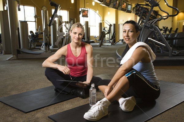 Women at health gym. Stock photo © iofoto
