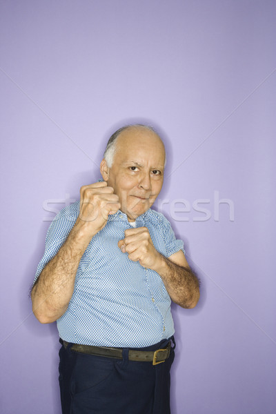 Man making fists. Stock photo © iofoto