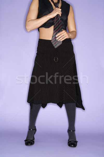 Woman wearing necktie. Stock photo © iofoto