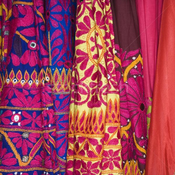 Colorido tecido abstrato fundo padrão Foto stock © iofoto