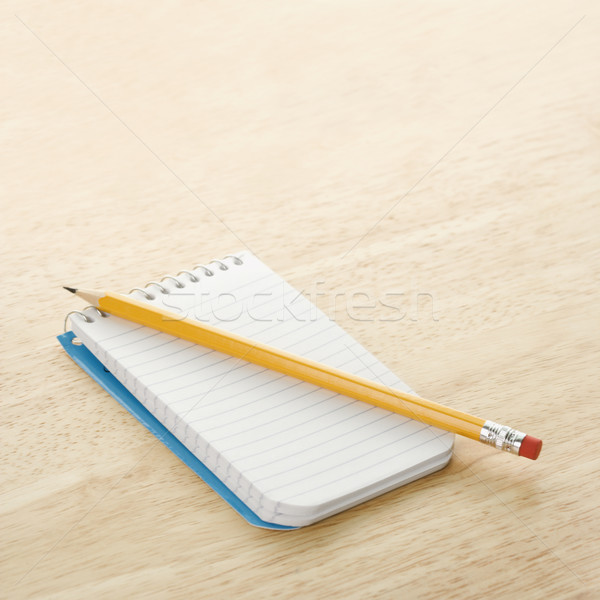 Pencil on notepad. Stock photo © iofoto