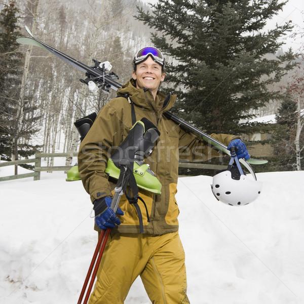 Man with ski gear. Stock photo © iofoto
