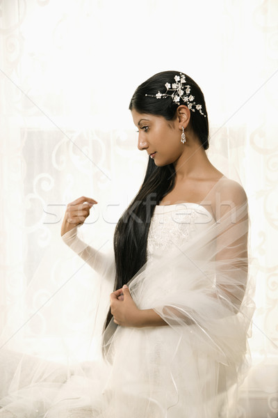 ストックフォト: ブライダル · 肖像 · インド · 花嫁 · 女性 · 結婚式
